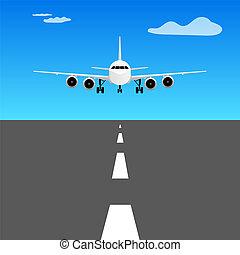 airplane landing illustration