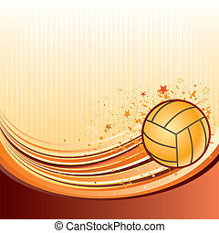 volleyball - vector background of volleyball sport