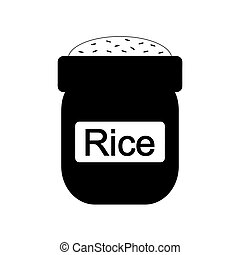 Bag of rice icon.