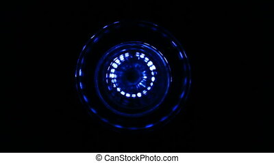 Sound waves in the dark - Sound waves in the visible blue...