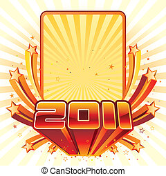 new year 2011 - vector illustration of new year 2011