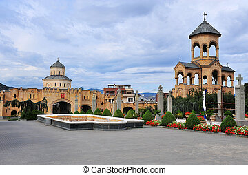 Temples in the Cathedral quarter of Tbilisi