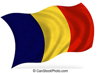 Andorra; Chad - Chad or Andorra flags, isolated