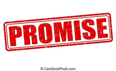 Promise sign or stamp on white background, vector...