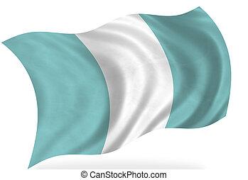 Guatemala   - Guatemala flag, isolated