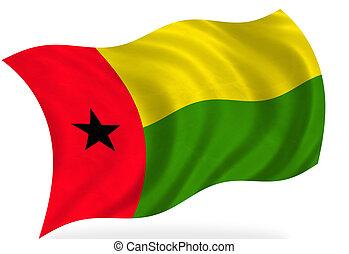 Guinea-Bissau  - Guinea Bissau flag, isolated