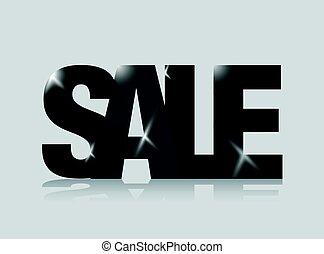 Black sale sign