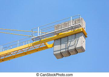Concrete counterweight of a crane - Concrete massive...