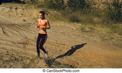 sports girl doing exercises for the muscles of the legs