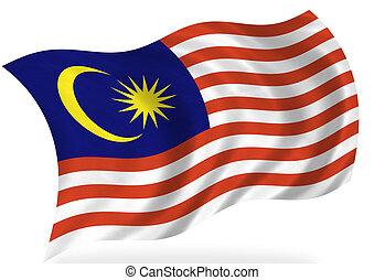 Malaysia flag, isolated