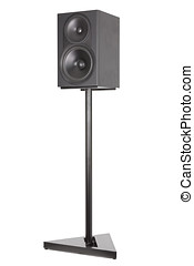 Monitor audio stands, professional two-way speaker