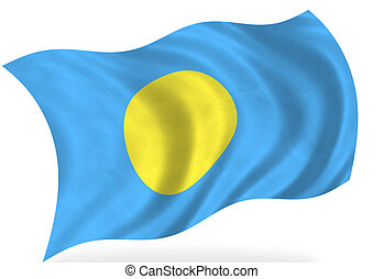 Palau flag, isolated