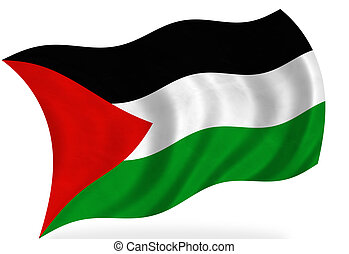 Palestine   - Palestine flag, isolated