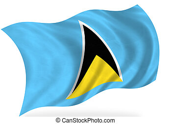 Saint-Lucia - Saint Lucia flag, isolated