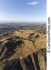 Southern California Suburban Aerial - Aerial view of...