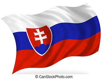 Slovakia flag, isolated