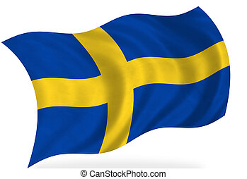 Sweden flag, isolated