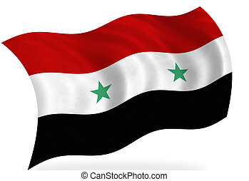 Syria flag, isolated
