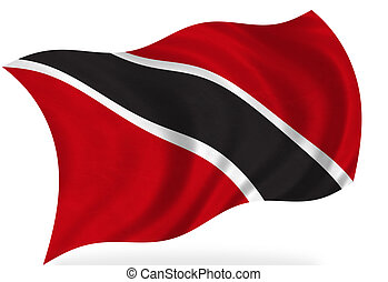 Trinidad And Tobago flag, isolated
