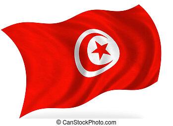 Tunisia flag, isolated