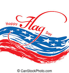 Happy Flag Day - Abstract United States of America Flag Day...