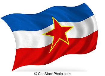 Yugoslavia flag, isolated