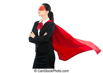 business woman have large ambition
