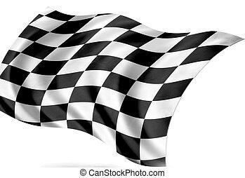 start-finish. - finishing flag, isolated