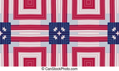 American national color pattern.