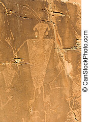 Petroglyph in Dinosaur National Monument - Petroglyph within...