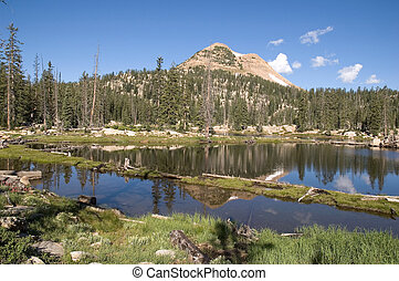 Lake Reflection in the High Uinta Mountains - Beautiful...