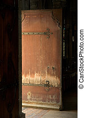 Outside Door in the Notre Dame Cathedral - Door to the...