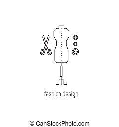 Fashion design line icon