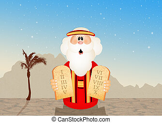 the ten commandments - illustration of the ten commandments
