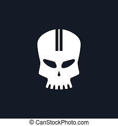 Sport Moto Speed Skull - White Sport Moto Speed Skull...