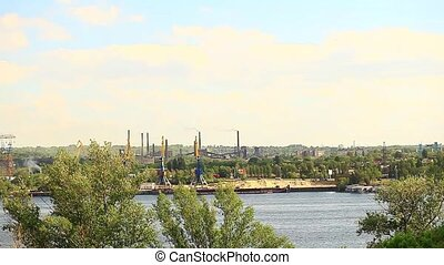 Panorama of a metallurgical plant Ukraine Dnipro