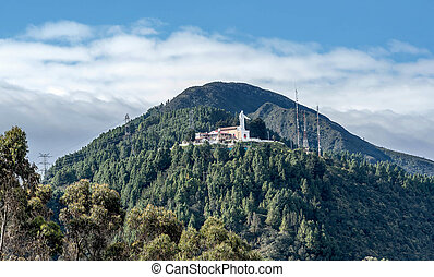 View of Monserrate Church in Bogota, Colombia