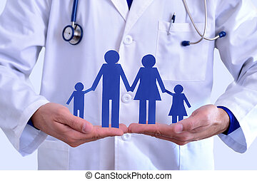 Concept of family health insurance