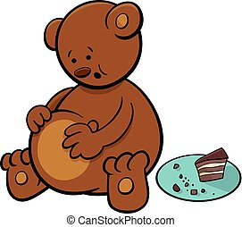 little bear cartoon character - Cartoon Illustration of...