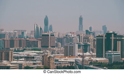 Landscape view of Skyscrapers and High-Rise Buildings in the...