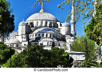 Sultan Ahmed Mosque or Blue Mosque in Istanbul, Turkey