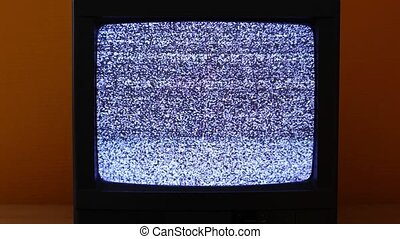 TV no signal - No signal just noise on an old TV set