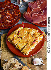 assortment of spanish tapas