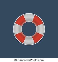 Lifebuoy lifebelt icon. Vector illustration - Lifebuoy...