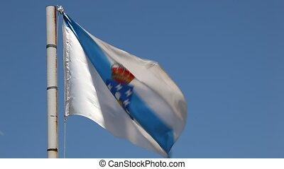 Flag of Galicia, Spain - Flag of Galicia - an autonomous...