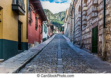 La Candelaria colorful Streets Bogota Colombia - colorful...