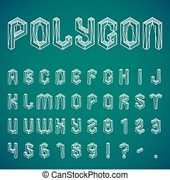 Polygon Alphabet and Numbers