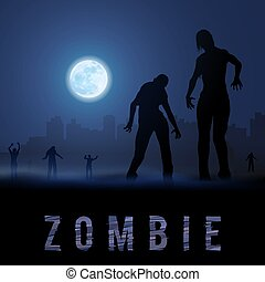 Zombie Poste - Zombie Walking out From Abandoned City at...