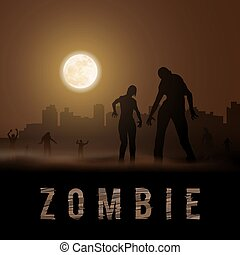 Zombie Poste - Zombie Walking out From Abandoned City....