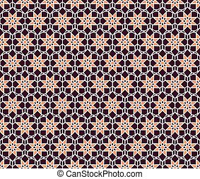 Vector Hexagonal Geometric Pattern - Seamless texture with...
